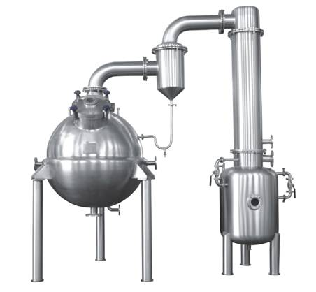 Ball type stainless steel vacuum concentration Tank