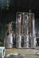 DYE1000l copper reflux alcohol still reflux column for whisky rum gin vodka brandy distillery products