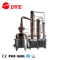 DYE distillery 500L copper alembic still vodka distillation equipment ethanol production plant
