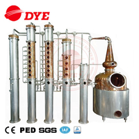1000L copper vodka gin whisky brandy distillery equipment for distilling alcohol