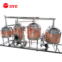 New Turn-key Red Copper mini beer brewery equipment ( CE Approved )