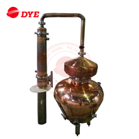 100L between 6 to 20 sets Customized copper pot still or stainless steel Alcohol distillation equipment China