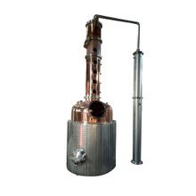 Spirits Alcohol Making Machine Distilling Column Copper Still
