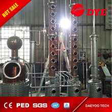 500L Red Copper Alcohol Wine Whisky Brandy Rum Vodka Gin Tequial Pot still Distillery Equipment