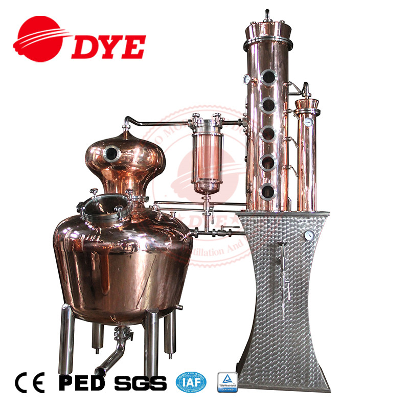 200L Copper Distillery Equipment for Prime Whisky Gin Distilling