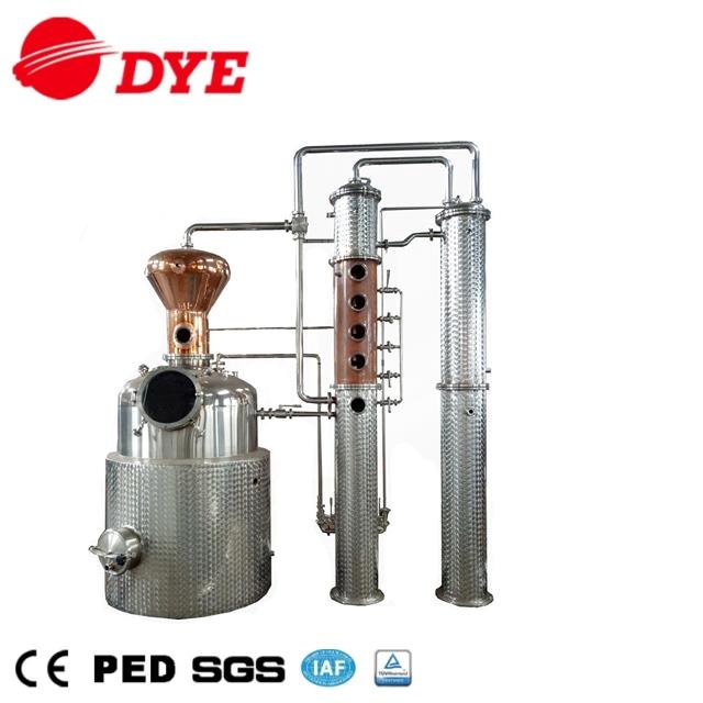 Copper Distiller Industrial Alcohol Whisky Distillation