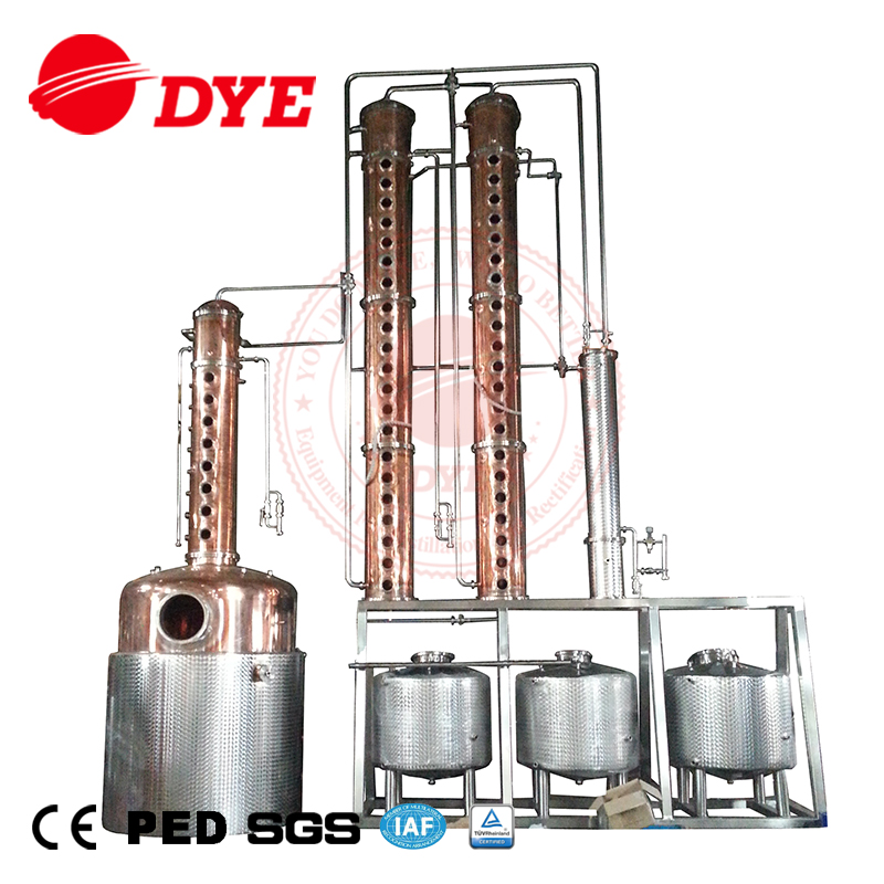 Commercial Distillery Equipment Copper Column Still Vodka Distiller