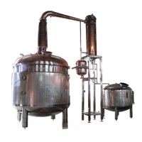 complete distillery system red copper distillation equipment steam alcohol distiller