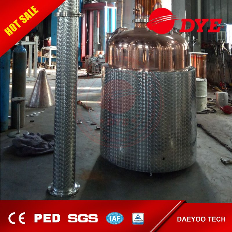 DYE Steam Heating Whisky Gin Brandy Copper Distilling Equipment